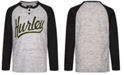 Hurley Big Boys Logo-Print Raglan-Sleeve T-Shirt