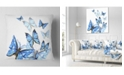 """Design Art Designart Watercolor Butterflies On White Floral Throw Pillow - 18"""" X 18"""""""