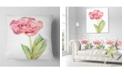 "Design Art Designart Single Pink Tulip On White Background Flower Throw Pillow - 18"" X 18"""