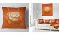 """Design Art Designart Yellow Blossom Fractal Flower Flower Throw Pillow - 16"""" X 16"""""""