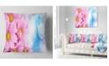 """Design Art Designart Beautiful Pink Flower Bouquet Floral Throw Pillow - 16"""" X 16"""""""