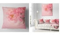 "Design Art Designart Peony Flowers On Pink Background Floral Throw Pillow - 16"" X 16"""