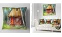 "Design Art Designart Rural Landscape With House Landscape Printed Throw Pillow - 18"" X 18"""