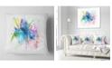"Design Art Designart Iris Watercolor Illustration Art Animal Throw Pillow - 18"" X 18"""