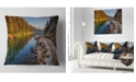 "Design Art Designart Placid Lake Between Mountains Landscape Printed Throw Pillow - 16"" X 16"""