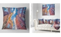 "Designart Authentic Dutch Architecture Throw Pillow - 26"" X 26"""