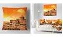 "Design Art Designart Wonderful Italy Tuscany Hill At Dawn Throw Pillow - 16"" X 16"""