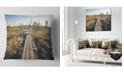 "Design Art Designart Retro Grainy Film Look Footpath Landscape Printed Throw Pillow - 18"" X 18"""