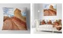 "Design Art Designart Paria Plateau In Northern Arizona Landscape Printed Throw Pillow - 16"" X 16"""