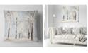 "Design Art Designart Winter Lane On Sunny Morning Forest Throw Pillow - 18"" X 18"""