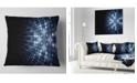 """Design Art Designart Digital Fractal Flower Perspective Abstract Throw Pillow - 16"""" X 16"""""""