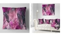 "Design Art Designart Abstract Purple Fractal Illustration Abstract Throw Pillow - 18"" X 18"""