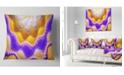 """Design Art Designart Blue Yellow Snake Skin Flower Abstract Throw Pillow - 18"""" X 18"""""""