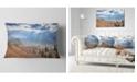 "Design Art Designart Beautiful Mountain Village View Landscape Printed Throw Pillow - 12"" X 20"""