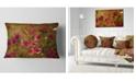 "Design Art Designart Spring Garden With Little Red Flowers Floral Throw Pillow - 12"" X 20"""