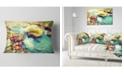"Design Art Designart Mountain River With Stones Seashore Throw Pillow - 12"" X 20"""