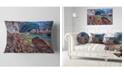 "Design Art Designart Stylish And Colorful Glacier Cave Landscape Printed Throw Pillow - 12"" X 20"""