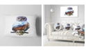 "Design Art Designart Owl Double Exposure Illustration Animal Throw Pillow - 12"" X 20"""