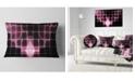 """Design Art Designart Pink Bat Outline On Radar Abstract Throw Pillow - 12"""" X 20"""""""