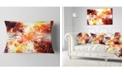 "Design Art Designart Yellow Tree Pattern Mandala Abstract Throw Pillow - 12"" X 20"""