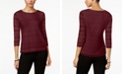 Charter Club Petite Lace 3/4-Sleeve Top, Created for Macy's