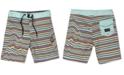 Volcom Little Boys Aura Stretch Stripe Swim Trunks