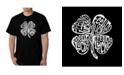 LA Pop Art Men's Word Art T-Shirt - Feeling Lucky