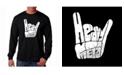 LA Pop Art Men's Word Art Long Sleeve T-Shirt - Heavy Metal