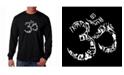 LA Pop Art Men's Word Art Long Sleeve T-Shirt - Om Symbol