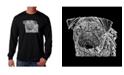 LA Pop Art Men's Word Art Long Sleeve T-Shirt - Pug Face