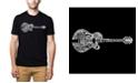 LA Pop Art Men's Premium Word Art T-Shirt - Country Guitar