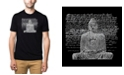 LA Pop Art Men's Premium Word Art T-Shirt - Zen Buddha