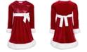 Bonnie Jean Big Girls Faux-Fur-Trim Sequined Santa Dress