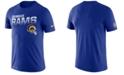 Nike Men's Los Angeles Rams Sideline Legend Line of Scrimmage T-Shirt