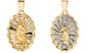 Macy's Our Lady of Guadalupe Reversible Pendant in 14k Gold & White Gold