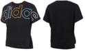 adidas Big Girls Logo-Print Cotton T-Shirt