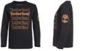 Timberland Little Boys Black Stacked Logo T-Shirt
