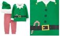 Carter's Baby Boys 3-Pc. Elf Top, Pants & Fleece-Trim Hat Set