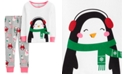 Carter's Baby Girls 2-Pc. Snug Fit Cotton Penguin Pajamas Set
