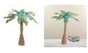 Northlight Summertime Tropical Beach Midnight Coconut Tree