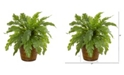 "Nearly Natural 12"" Fern Artificial Plant in Basket"
