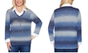 Alfred Dunner Autumn Harvest Layered-Look Collared Sweater