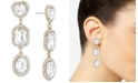 RACHEL Rachel Roy Gold-Tone Crystal Triple Drop Earrings