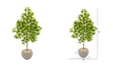 """Nearly Natural 54"""" Lemon Artificial Tree in Sand Colored Planter"""