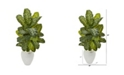 """Nearly Natural 48"""" Dieffenbachia Artificial Plant in White Planter Real Touch"""