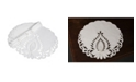 """Xia Home Fashions Wilshire Embroidered Cutwork Round Placemats, 16"""" Round, Set of 4"""