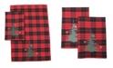 "Manor Luxe Christmas Tree Decorative Tartan Towels 14"" x 22"", Set of 2"