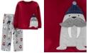 Carter's Toddler Boys 2-Pc. Fleece Walrus Pajamas Set