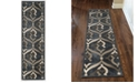 """KM Home CLOSEOUT! 3796/1023/Gray Imperia Gray 2'2"""" x 7'7"""" Runner Rug"""