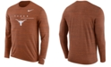 Nike Men's Texas Longhorns Velocity Travel Long Sleeve T-Shirt
